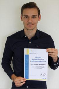 Christian Heidenreich mit Zertifikat